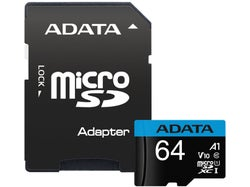 ADATA Premier microSDXC Class 10 UHS-I A1 V10 Card with Adapter 64GB