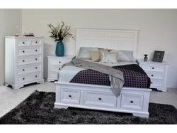 Akira King 4 Piece Slat Bed Bedroom Suite