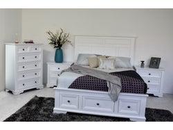 Akira Queen 4 Piece Slat Bed Bedroom Suite