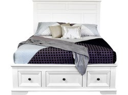 Akira Queen Slatbed with Drawers