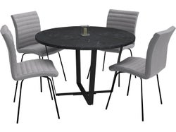 Amble 5 Piece Round Dining Suite