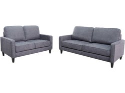 Apartment Fabric 5 Seater Lounge Suite - Cloud