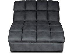 Axel Fabric Chaise - Slate