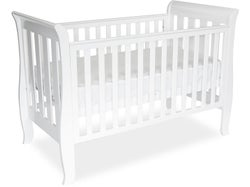 Babyhood Classic Sleigh 4-in-1 Cot - White