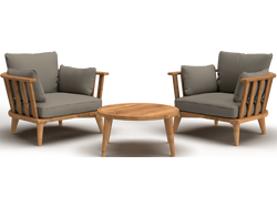 Barcelona Outdoor 3 Piece Chat Set