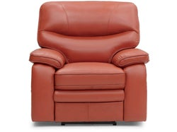 Baxter Leather Electric Recliner - Flame