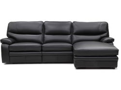 Baxter Leather Right Chaise Lounge Suite - Eclipse
