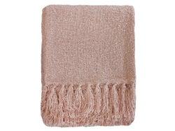 Boucle Yarn Throw - Dusky Pink