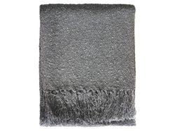 Boucle Yarn Throw - Gunmetal