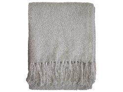 Boucle Yarn Throw - Light Stone
