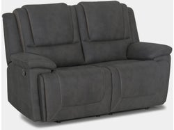 Bremen Fabric 2 Seater with 2 Built in Recliners - Graphite