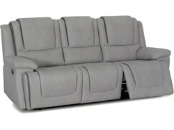 Bremen Fabric 3 Seater with 2 Built in Recliners - Smoke