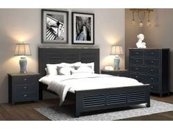 Brittany Queen 4 Piece Slat Bed Bedroom Suite