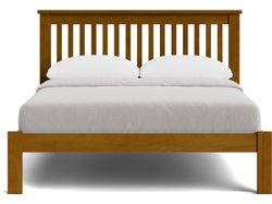 Brook Slatted Queen Slat Bed - Old Rimu