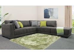 Castro Fabric Modular Right Chaise Lounge Suite - Graphite