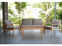 Chester Outdoor 4 Piece Lounge Setting with Cover