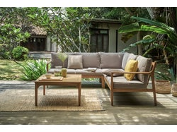 Chester Outdoor Corner Lounge Setting with Coffee Table and Cover