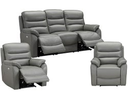 Cody 5 Seater Leather Electric Recliner Lounge Suite - Element