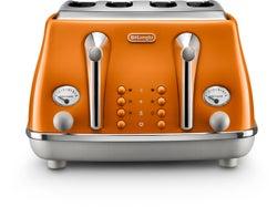 DeLonghi Icona Capitals 4 Slice Toaster - Orange