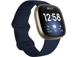 Fitbit Versa 3 Health and Fitness Watch + GPS - Midnight / Soft Gold Aluminium