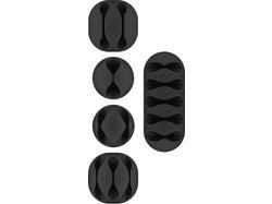 Goobay Cable Management Set 5 Pieces - Black