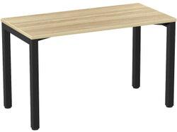 Knight Cubit 1200 Desk - Black Frame / Atlantic Oak Top