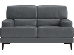 Livigno Leather 2 Seater Sofa - Grey