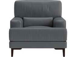 Livigno Leather Armchair - Grey