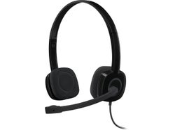 Logitech H151 Single-pin Stereo Headset - Black