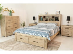 Louie 4 Piece Bedroom Suite with King Slatbed