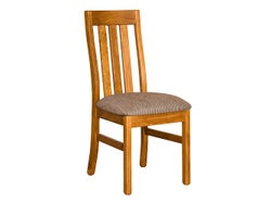 Marsden Slat Back Dining Chair - Old Rimu - Direction Sable Fabric