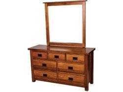 Merivale 7 Drawer Dresser with Mirror - Matte