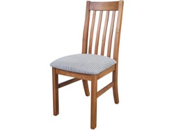 Mill-Yard Slat Back Dining Chair - Aged Pine/Direction Domino