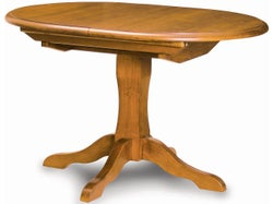 Mill-Yard Small Oval Extension Table - Aged Pine
