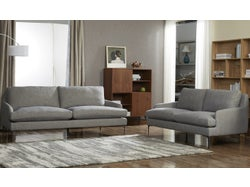 Modena Fabric 5 Seater Lounge Suite - Grey