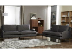 Modena Fabric 5 Seater Lounge Suite - Midnight