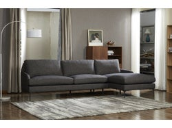 Modena Fabric Right Chaise Lounge Suite - Midnight