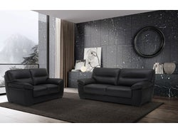 Naxos Leather 5 Seater Lounge Suite - Midnight