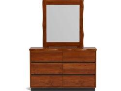 Neo 6 Drawer Dresser with Mirror - Maple