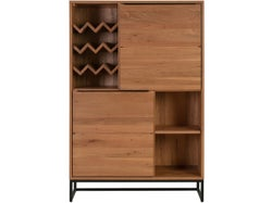 Nevada 2 Drawer Cabinet with Wine Rack