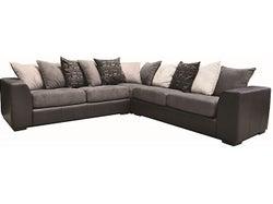 Nevada Fabric 5 Seater Corner Lounge Suite