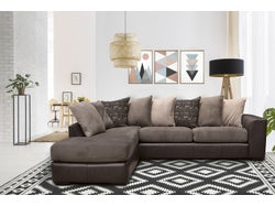 Nevada Fabric Left Chaise Lounge Suite - Graphite