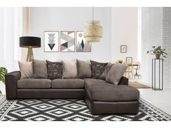 Nevada Fabric Right Chaise Lounge Suite - Graphite