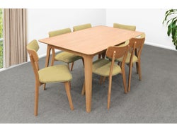 Oslo 7 Piece Dining Suite - Green