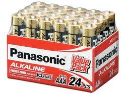 Panasonic Alkaline AAA Batteries (24 Pack)