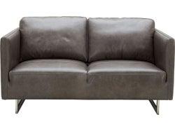 Phoenix Leather 2 Seater Sofa - Concret
