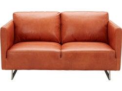 Phoenix Leather 2 Seater Sofa - Ochre