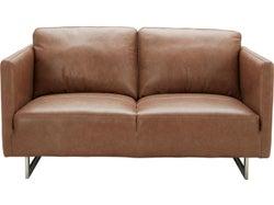Phoenix Leather 2 Seater Sofa - Saddle