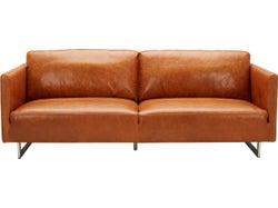 Phoenix Leather 3 Seater Sofa - Camel