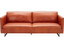 Phoenix Leather 3 Seater Sofa - Ochre